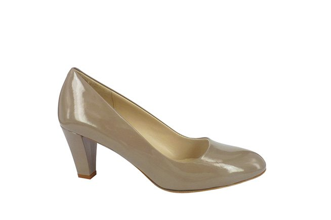 Picture of AMBER ROSSI Heel - Taupe Patent