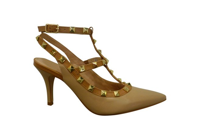 Picture of BRAZILIO Studded Heel - Neutral