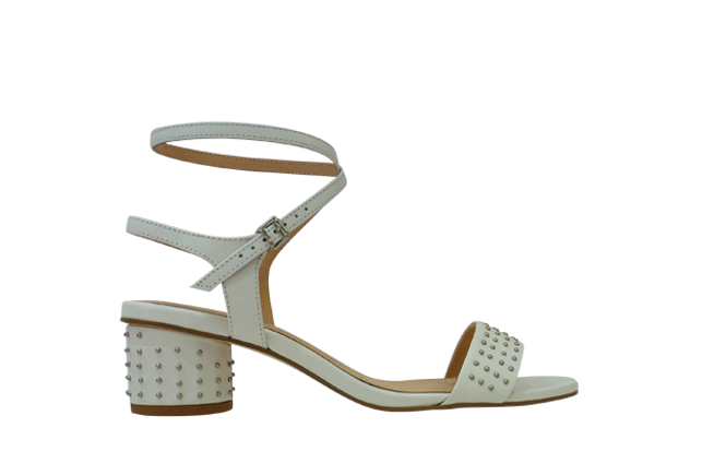 Picture of BRAZILIO Studded Sandal - White