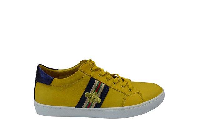 Picture of GELATO Queenie Bee Sneaker - Mustard